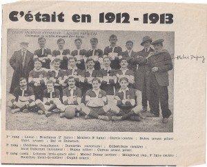 l'Equipe de rugby de l'A.T en 1913