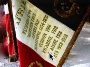 Drapeau deu 7e R.I. à Cahors : Centenaire du la guerre 14-18 - hommage à K. dupuy et à tous les soldats du régiment