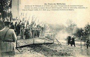 inauguration du monument ...arrivée du Pdt. poincaré