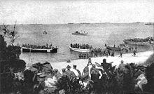 Le 4éme bataillon ANZAC débarque à Gallipoli