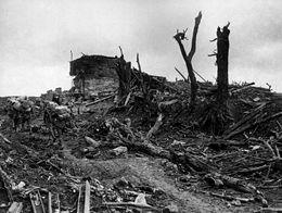 """le bunker """" gibraltar """" à Pozières fin août 1917"""