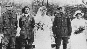 mariage du soldat william wallace , engagement refusé d'abord a cause de sa couleur,, réussi ensuite (1918 )