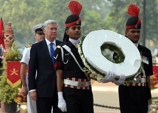 Cérémonie en mémoire des soldats Indiens le 30 octobre 2014