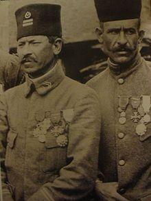 Lieutenant du 4ém RMT de division marocaine ( 1917 )