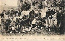 CAMPEMENT DE SPAHIS MAROCAINS À RIBECOURT EN 1914
