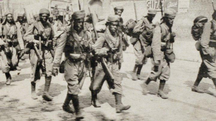 Tiailleurs Marocains à Amiens en 1914