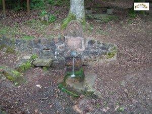 la fontaine du 6e bataillon du 373 e R.I. à chapelotte