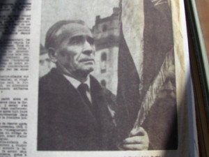 Léon Buffet lors d'une cérémonie du souvenir