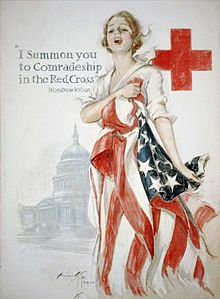 affiche croix-rouge amércaine 1918