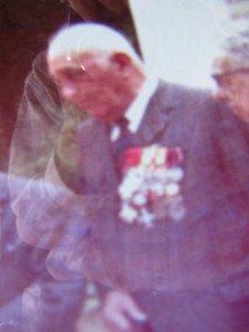 Le sergant Guisnier lors de l'inauguration - un des héros de Souville