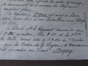 """extrait du journal de marche des opérations du  7èmè R.I. ( bataille du """" Casque """""""