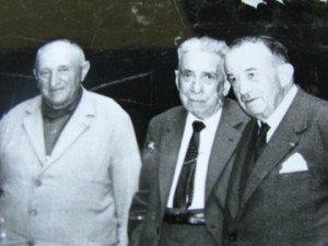 de G à D : Jean Gramond , le Dr L. Conte , Gaston Comte.