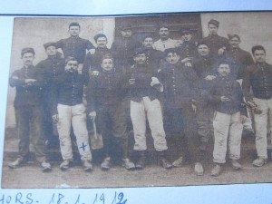 pendant le service militaire CAHORS 18/1/1912