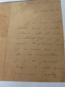 lettre de H.G.Cabrol à sa Tante