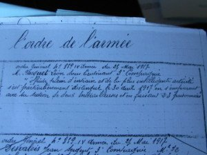 Citation à l'Ordre de l'armée du S/L léen Busquet