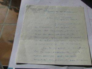 1er page de la lettre de L. DELON à Mme Rene DUPUY