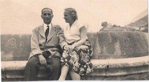 Kléber dupuy et son épouse Renée en en 1960