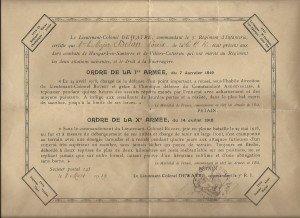 Le Dr L. DELON faisatt le 31mai 1918 , les premiers soins à Kléber Dupuy